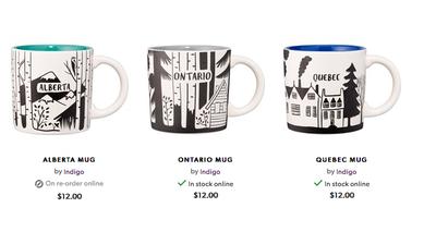 indigo canada mug