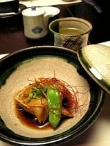 Deep-fried tofu with amber sauce