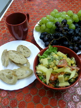 ムール貝とトマトのサラダ