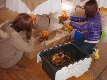 お花設置のお手伝い
