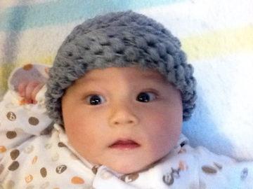 10月29日グレーの帽子