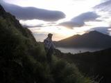 バトゥール山で凍える山ガイド