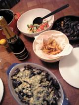 ムール貝とシャンパン