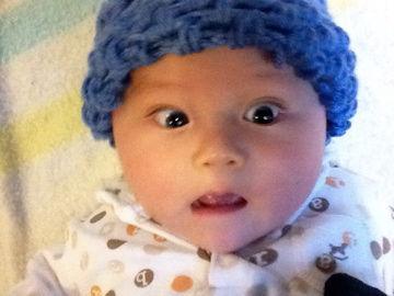 10月29日青い帽子