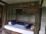 お部屋前、テラスのベッド@ウブド