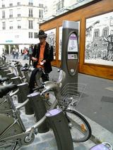 Velibの自転車置き場