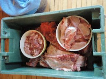 色んなお肉ができました
