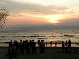 クタのビーチ 夕日