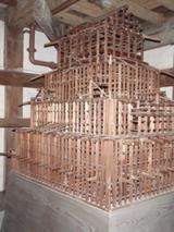姫路城の中の姫路城の木模型