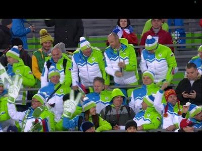スロベニアの応援団