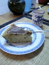 マロンクリーム付きチーズケーキ