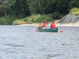カヌー楽しむ人達