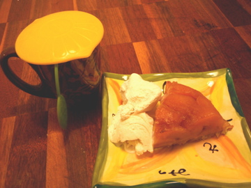 アイスクリームと紅茶で頂き!