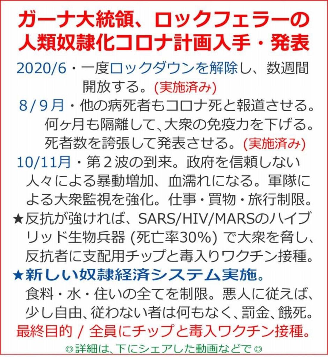 日本も二度目の『ロックダウン』来るか!?計画書通りに事が進む。