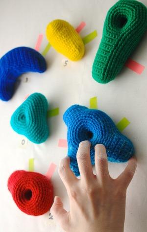 ボルダリング編み