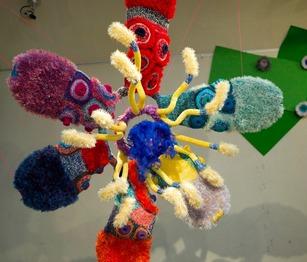編みの大花