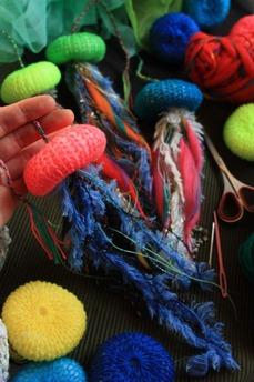 編みクラゲ-ワークショップ