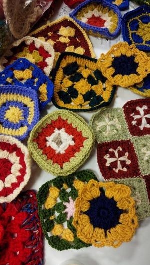 編みモチーフ
