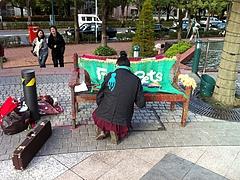 2010-続-恵比寿編み奇襲-FreePets編みベンチ   音と編み セッション0660