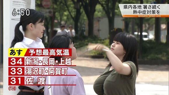 【画像】NHKでとんでもない爆乳素人が映ってしまうwww