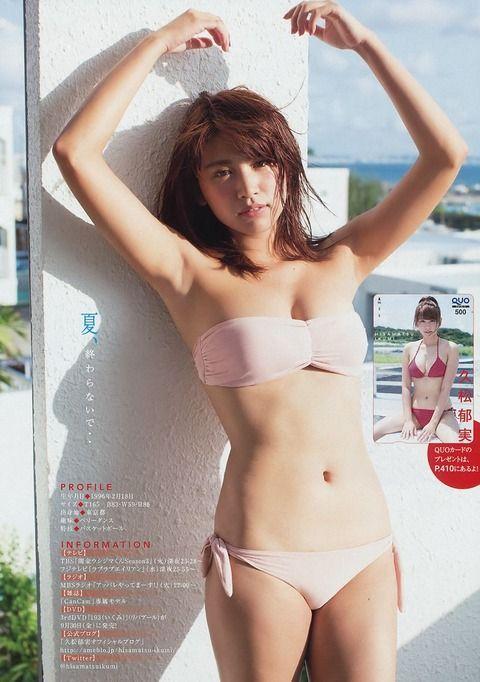 久松郁実のグラビアを見るだけで反射的に抜きたくなる^ ^
