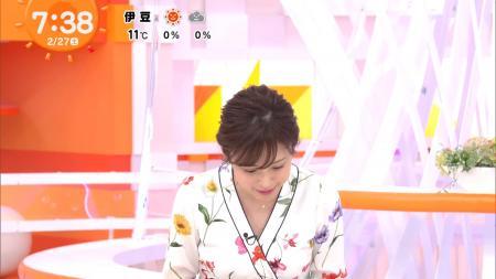 久慈暁子のエッチな胸チラ めざましどようび 210228