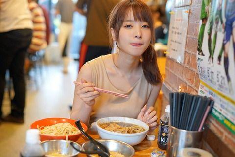 セクシー女優「彼女が二郎でつけ麺ヤサイ少なめニンニクマシマシアブラ別盛りなう。って使っていいよ」
