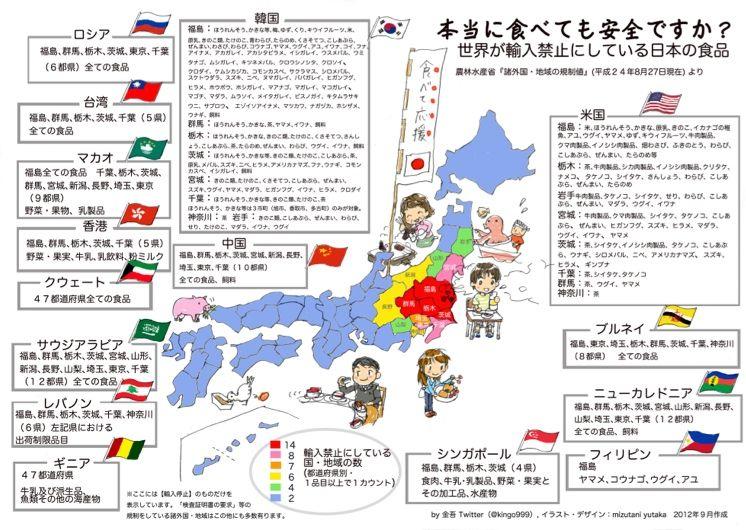 バカ「福島の食い物は全部汚染されている」←万死に値する暴言
