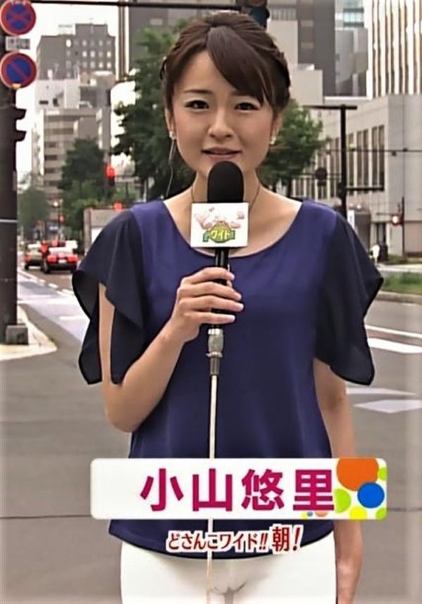 小山悠里(NHK名古屋放送局)というかわいらしい顔立ちでエッチな胸チラする元北海道のアナ
