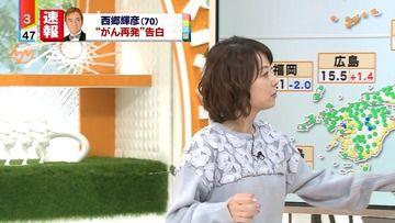 奈良岡希実子 171130ミヤネ屋(読売テレビ)