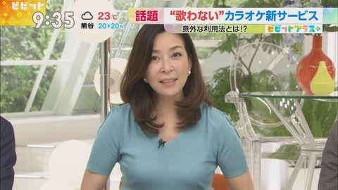真矢ミキの胸元がパッツパツすぎてブラ透け。
