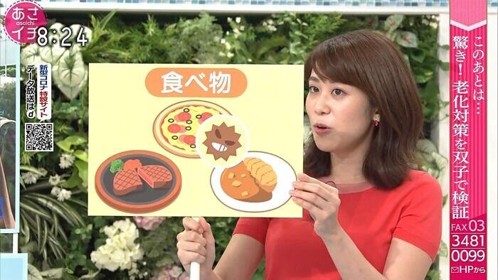 【画像】NHK中川安奈アナのおっぱいが揺れた!!※GIFあり