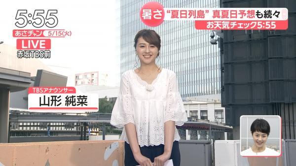 山形純菜 エッチな胸元 あさチャン! 180516