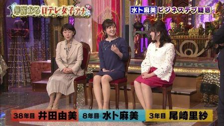 女子アナのムチムチ脚ミニスカ脚&ニットおっぱいセクシー画像(日テレ編)