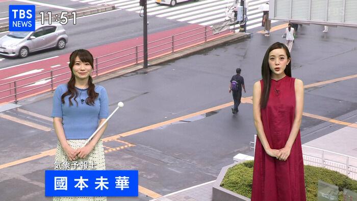 【画像】気象予報士の國本未華さんの巨乳の形がハッキリ!