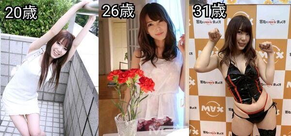 【画像】AV女優のデビュー当時と現在の比較がこちら 10年くらいでこんなに変わるのか…