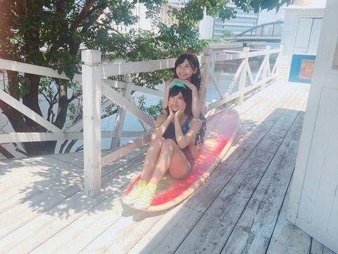 【画像】AKB福岡聖菜の水着オフショットがエロい!!
