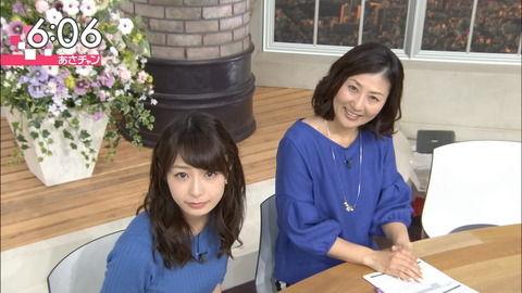 宇垣美里アナのパッツパツな上向きおっぱい。