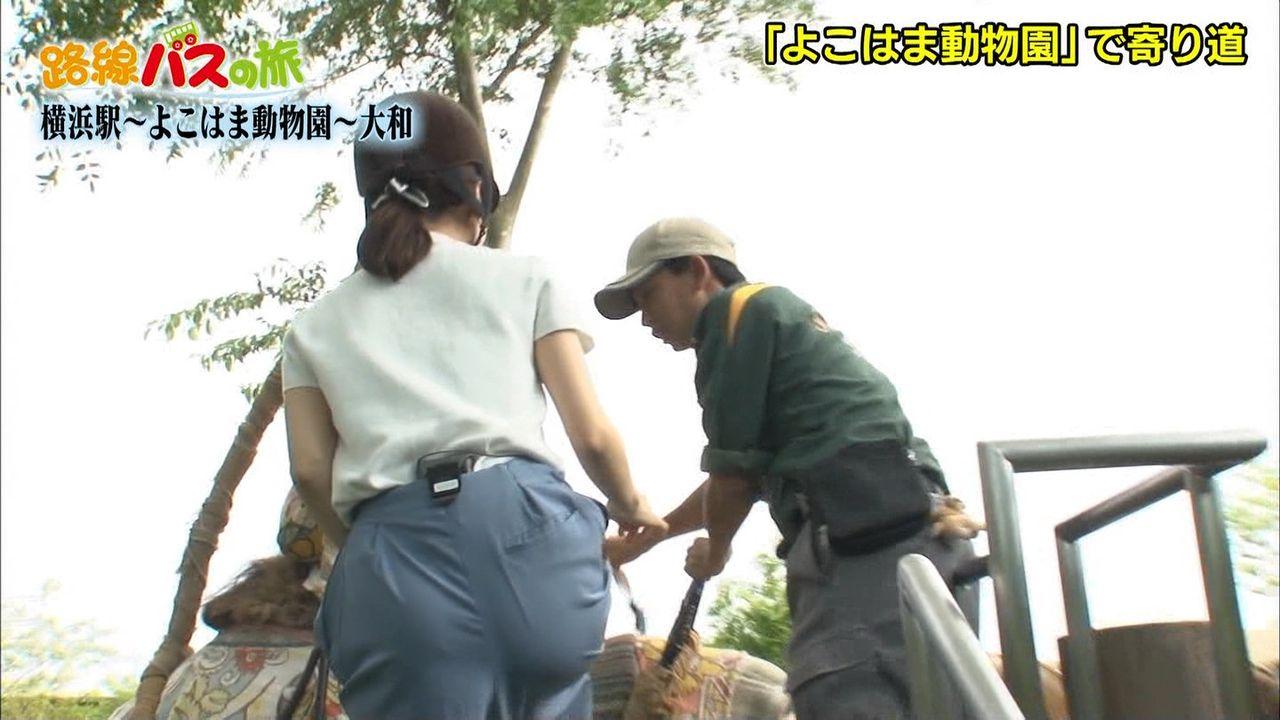 田中みな実さんの意外と引き締まっていそうなお尻wらくだに乗るときのラッキースケベwww