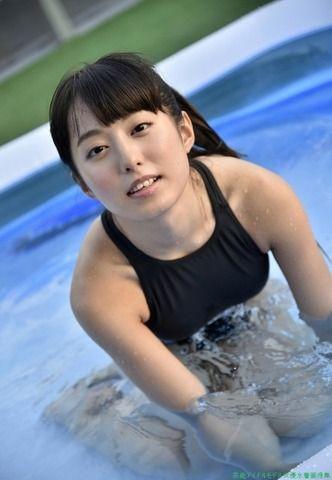 ミニマムグラドル前田美里の競泳水着画像「25枚」