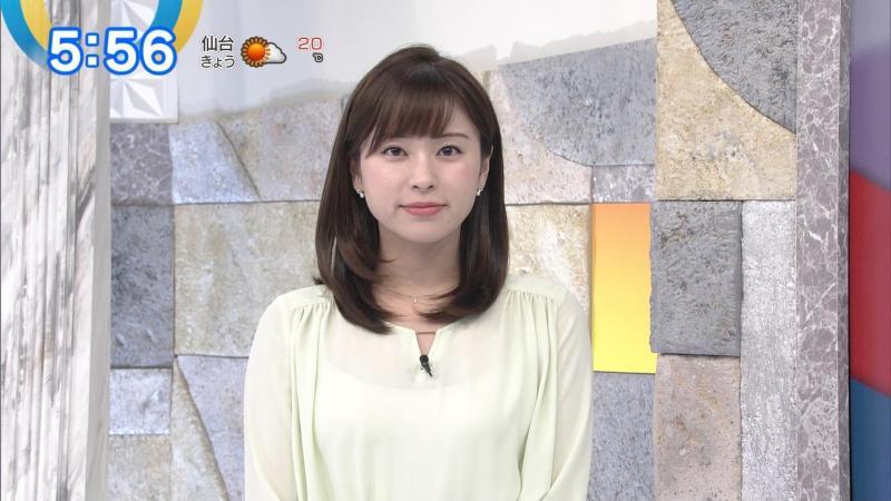 角谷暁子さんのキャミ透けおっぱい モーサテ 181030