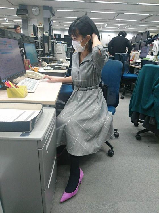 【画像】竹内由恵アナ、テレ朝社内で盗撮される 可愛い!