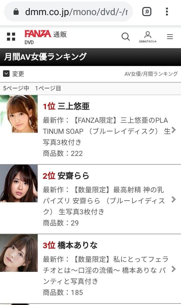 【画像】スレンダー系AV女優の三上悠亜さん、DVDでも配信でも月間人気1位に!