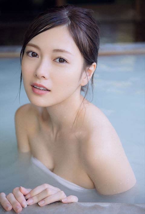 白石麻衣 湯けむりの美裸身入浴セクシー画像