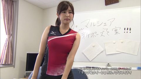 【画像】静岡第一テレビ・垣内麻里亜アナのおっぱいがエロいぞwww