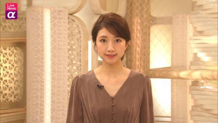 三田友梨佳 エロい胸元 ライブニュースα 201031