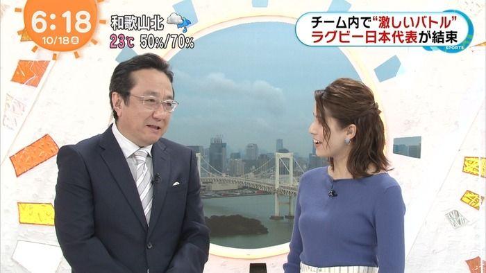 【画像】永島優美アナのおっぱいエチエッチwwwww(めざましテレビ)