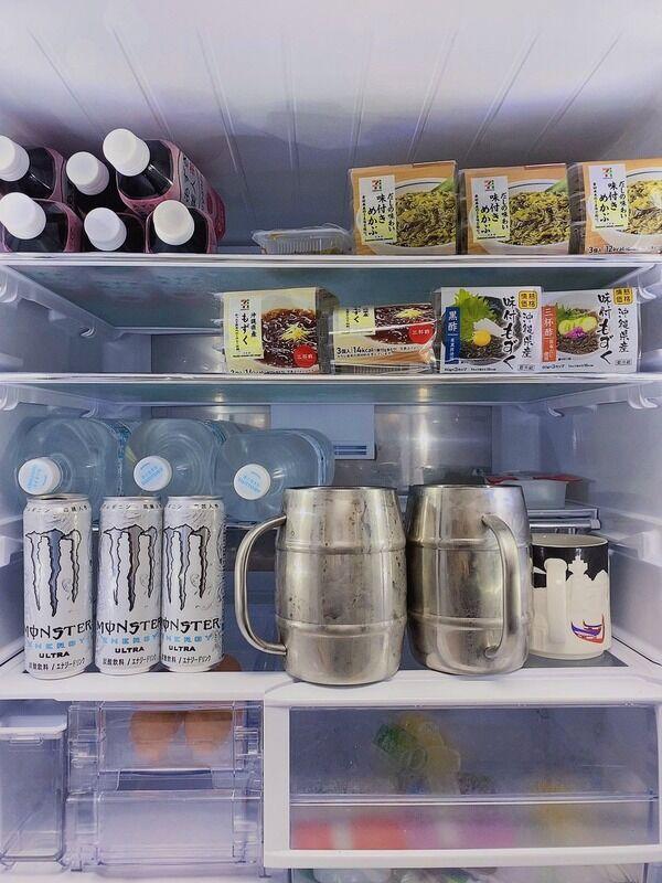 【画像】セクシー女優・桃乃木かなが冷蔵庫の中を公開「これで週末は乗り切る」