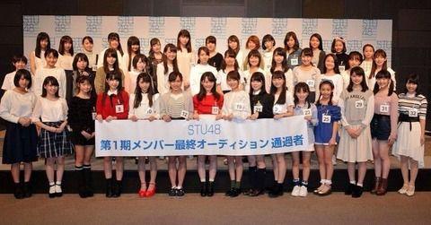 「最年少は12歳!」 STU48 第1期オーディション合格者44人を発表!!