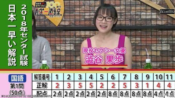 英検1級・TOEIC990点のAV女優・澁谷果歩、センター試験の英語を30分で解いて190/200点取る